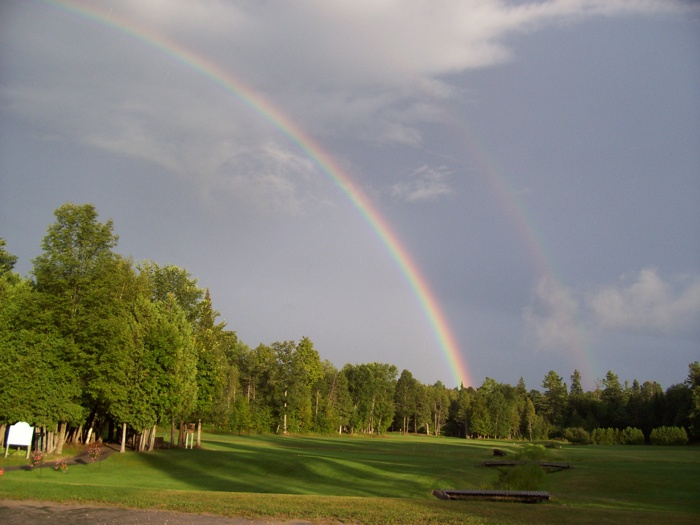 Double rainbow over the course