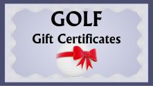 Golf gift certificates