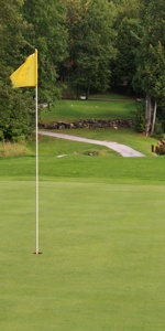 Picturesque nine hole golf course in Lanark Ontario, near Perth and Ottawa - tree lined fairways, meandering creek and challenging elevation changes